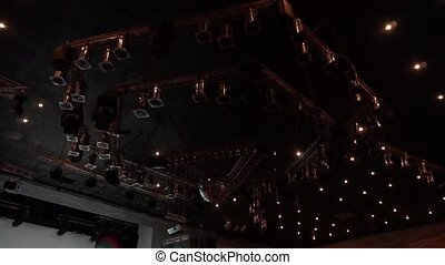 Lighting at a concert. Stage lights.