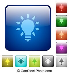 Lighting bulb color square buttons