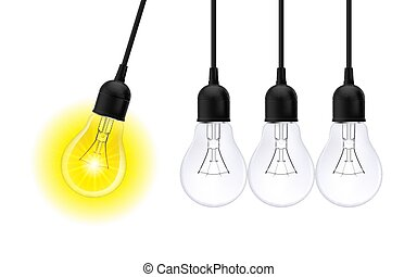 Lighting Bulb - Innovation Idea Concepts Glowing Light Bulb....