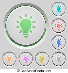 Lighting bulb push buttons