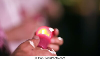 Lighting candles