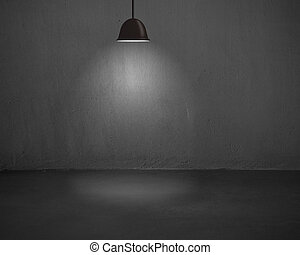 lighting ceiling lamps with concrete wall