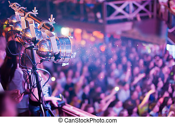 Lighting equipment at the concert