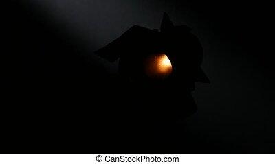 Lighting equipment, flash or spotlight, light on and off,...