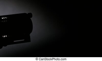 Lighting equipment, flash or spotlight, side view, shadow,...
