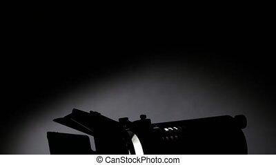 Lighting equipment, flash or spotlight, top view, shadow,...