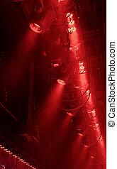 Lighting equipment - Powerful spotlights illuminate the ...