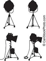 Lighting Equipment Set - Set of four professional lighting ...