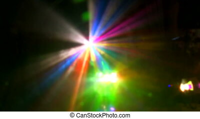 Lighting equipment  - Laser beamer at the discotheque