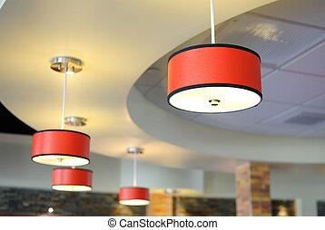 Lighting Fixtures - Arrangement of hanging lighting fixtures