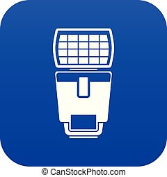 Lighting flash for camera icon digital blue
