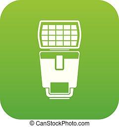 Lighting flash for camera icon digital green