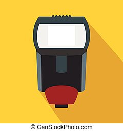 Lighting flash for camera icon, flat style