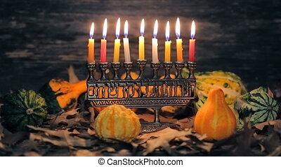Lighting Hanukkah Candles Hanukkah celebration