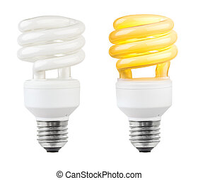 Lighting low-energy lamp isolated on white background