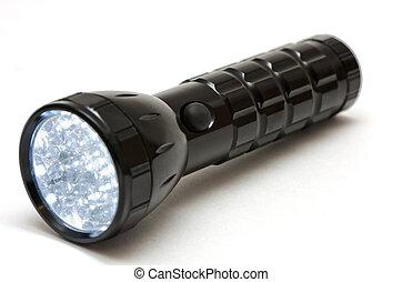Lighting metallic flashlight