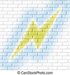 Lighting on brickwall