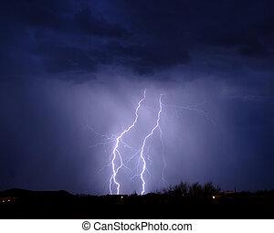 Lighting over the desert - Lightning over the desert, Tucson...