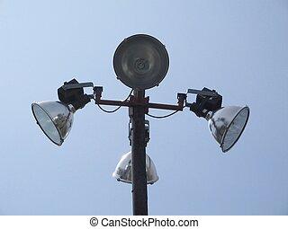 lighting - a unique set of lights for a parking lot