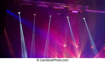 Lighting scenes during a concert - Stage Lighting color...