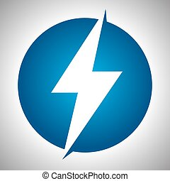 Lighting thunder sign in circle, illustration