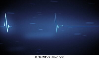 Digital animation of lightning and heart rate moving in the screen