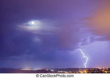 Lightning and moon couple