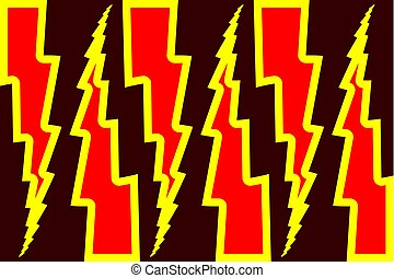 Lightning bolt - abstract geometric vector pattern - red and...