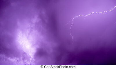 Lightning bolt - Beautiful lightning bolt with purple tone