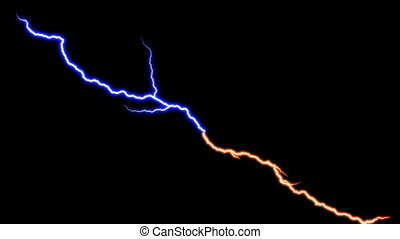 Lightning Bolt Blue Red