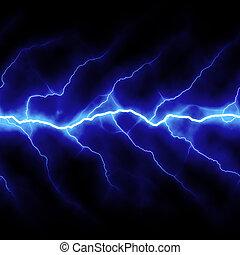Lightning Bolt - Bolts of lightning isolated over a black...
