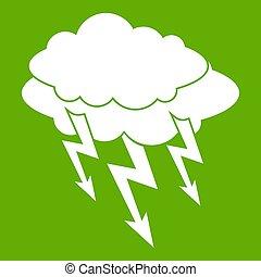 Lightning bolt icon green