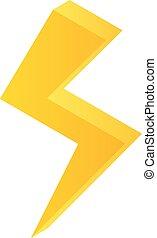 Lightning bolt icon, isometric style