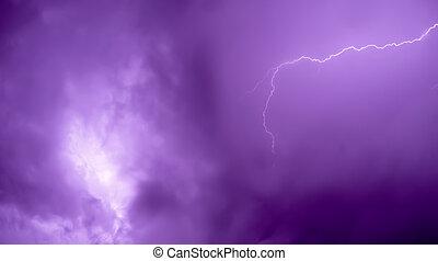 Lightning bolt - Beautiful lightning bolt with purple tone