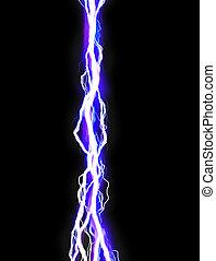 Poweful lightning bolt illustration on black background