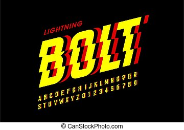 Lightning bolt style font design