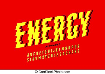 Lightning bolt style font