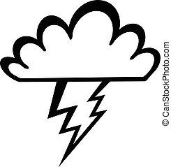 Lightning bolt vector icon