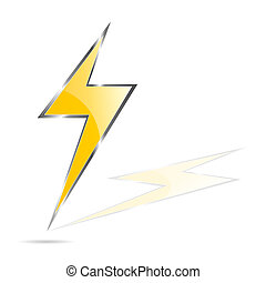 lightning bolt vector illustration art on white