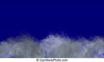 lightning., chmura, &