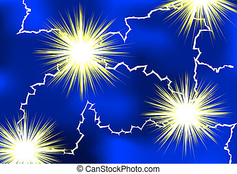 Lightning - electrical lightning as background