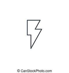Lightning, electricity thin line icon. Linear vector symbol