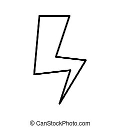 lightning energy electricity thin line