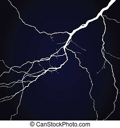 Lightning in the night sky. A vector illustration