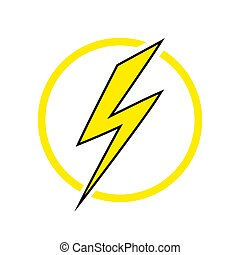 Lightning icon, energy icon. - Lightning icon, energy icon ...