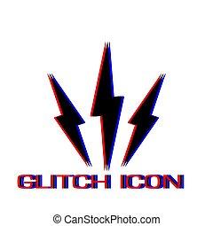 Lightning icon flat
