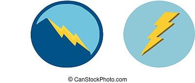 lightning icon on white background