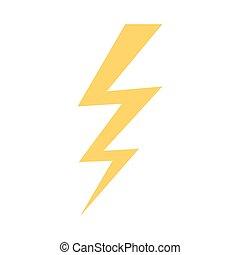 Lightning icon. Vector illustration. - Lightning icon in...