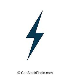 Lightning icon vector isolated on white background