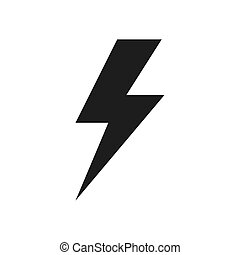 Lightning icon vector. Simple lightning sign in modern design style for web site and mobile app. EPS10